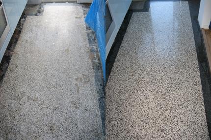 Reparatie granito vloer